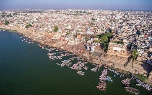 Incredible view of Varanasi city
