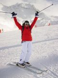 Victorious skier