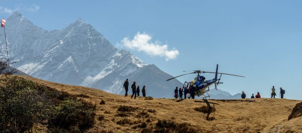 HELICOPTER ride over Nepal